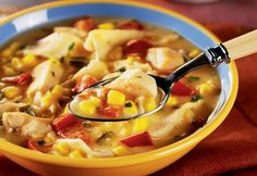Spice up your day with a bowl of this warm and wonderful soup that slow cooks for hours to blend many favorite Southwestern ingredients.