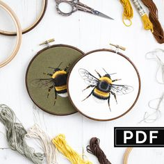 PDF Digital Instant Download / White-tailed Bumblebee / DIY