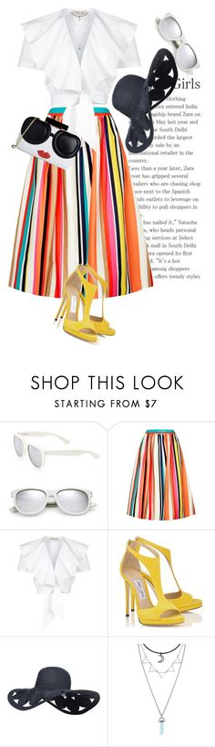 """""""Stripes..."""" by unamiradaatuarmario ❤ liked on Polyvore featuring Yves Saint Laurent, Alice + Olivia and Temperley London"""