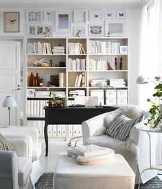 IKEA home office - warm and cozy but professional
