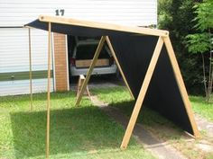 Basic Market Stall - with instructions and measurements on construction. Could be twisted to look like a viking tent.