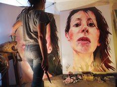peggy viallat , atelier , malakoff 2014