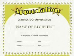 Certificate Of Appreciation Template For Word Stunning Business Certificate  Certificate Of Participations .