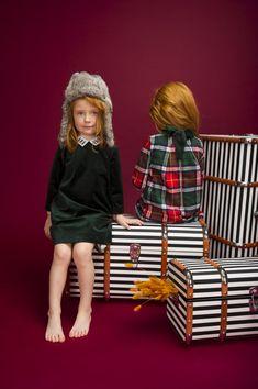 Girls' power! Green velour dress for mini fashionistas. #velour #green #emeraldgreen # emerald #dress #velourdress #velvetdress #greendress #darkgreen #schoolwear #schooldress #beautifuldress #kids #kidsfashion #kidswear #girl #girlspower #grlpwr  #powerofgirls #kare #karedesign