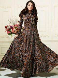 Cilory is one stop online shopping store for latest kids wear, mens and womens clothing. Buy accessories, footwear, lingerie's, designer kurtis & dresses at best price. Dress Indian Style, Indian Dresses, Indian Outfits, Hijab Fashion, Fashion Dresses, Kalamkari Dresses, Cotton Gowns, Long Cotton Kurti, Long Dress Design