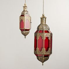 One of my favorite discoveries at WorldMarket.com: Red Latika Hanging Lantern @Susan Hyde , if I ever have a house, these will be everywhere!