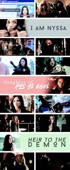 I am Nyssa daughter of Ra's Al Ghul, Heir to the demon. #Arrow