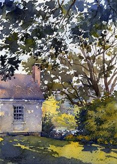 """Afternoon Shadows by Richard Sneary Watercolor ~ 14"""" x 10"""" #watercolorarts"""