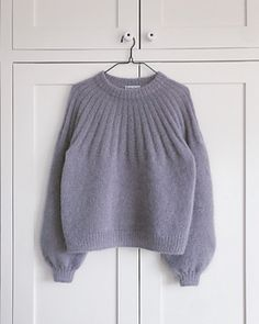 Ravelry: Sunday Sweater - Mohair Edition pattern by PetiteKnit Mohair Sweater, Knit Cardigan, Stockinette, Free Knitting, Knitting Sweaters, Knitwear, Knitting Patterns, Knit Crochet, Winter Fashion