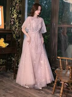 Pink Evening Dress, Women's Evening Dresses, Modest Dresses, Prom Dresses, Wedding Dresses, Kebaya Modern Dress, Rose Bridesmaid Dresses, Long Prom Gowns, Party Dress