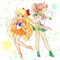 Sailor Venus and Jupiter