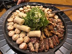Gobchang Gui in Manhattan K-Town From here Korean Food, Japanese Food, Asian Recipes, Pork, Meat, Manhattan, Kale Stir Fry, Korean Cuisine, Japanese Dishes