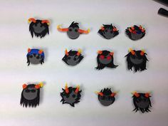 Homestuck polymer clay miniature magnets by SammyCraft on Etsy, $32.00