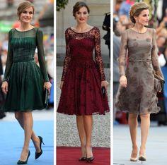 royalroaster:  Queen Letizia in Felipe Varela dresses