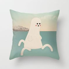 s - k a p p a Throw Pillow by Marco Puccini - $20.00