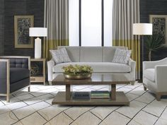 Contemporary living room featuring Baker Classics