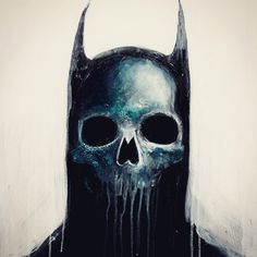 #Batman #Skull #AcrylicPainting by @MrFourFingers: http://skullappreciationsociety.com/batman-skull-painting/ via @Skull_Society