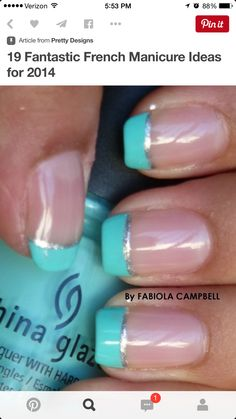 Turquoise and silver french
