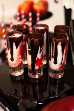 twilight bloody good vampire milkshake shots - Halloween Shooters Cocktails