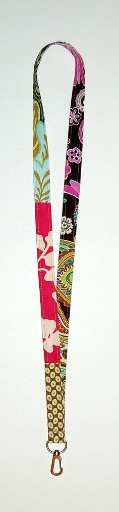 """Patchwork Lanyard """"One of a Kind"""" (Ready To Ship)"""