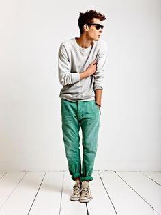 soda men, colored pants, outfit, men fashion, men clothes