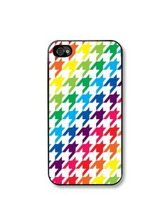 iPhone 4 case   Rainbow Houndstooth  Fits an  Apple by TaBCase, $15.99