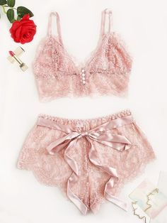 Scalloped Trim Floral Lace Lingerie Set Check out this Scalloped Trim Floral Lace Lingerie Set on Shein and explore more to meet your fashion needs! Lace Lingerie Set, Pretty Lingerie, Sexy Lingerie, Lingerie Shoot, Elegant Lingerie, Luxury Lingerie, Delicate Lingerie, Lingerie Dress, Sexy Bra