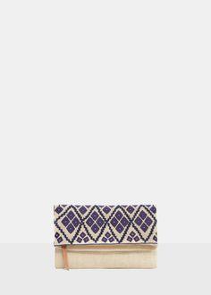 60 Embroidered envelope bag - Bags Violeta | Violeta by MANGO USA