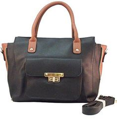Roma Leathers - Concealed Carry Purse - Cross Body Satchel Concealement Gun Purse (Black)