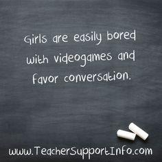 Girls are easily bor