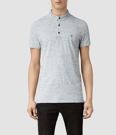 Mens Bramford Midwest Polo (Grey Mouline) | ALLSAINTS.com