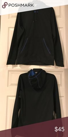 Men's Under Armour Black Hoodie Excellent Condition Men's Under Armour Black w/blue Accents hoodie Under Armour Shirts Sweatshirts & Hoodies