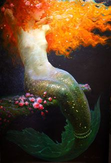 Victor Nizovtsev // Russian oil painter, a master of whimsical and narrative art. Subjects include fantasy landscapes, Russian folklore, theatre, and mermaids.