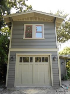 Two-Story One-Car Garage Apartment   Historic Shed