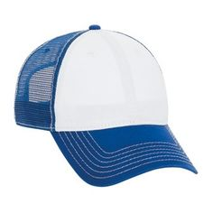 Superior Garment Washed Cotton Twill Low Profile Style Mesh Back Caps