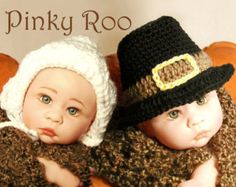 Lil Pilgrims baby hat/ Thanksgiving baby hat /crochet baby hat/ photo prop for baby pictures