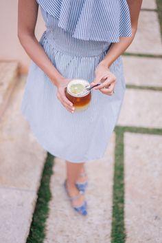 Gal Meets Glam Bahama House, Harbour Island - JOA Dress, Tabitha Simmons Flats