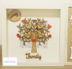 Items similar to Beautiful sparkly handmade family tree box frame. on Etsy Tree Box, Box Frames, Natural Wood, Projects To Try, My Etsy Shop, Clock, Handmade, Painting, Design