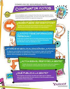 Consejos de seguridad para compartir fotografías #infografia #infographic #socialmedia