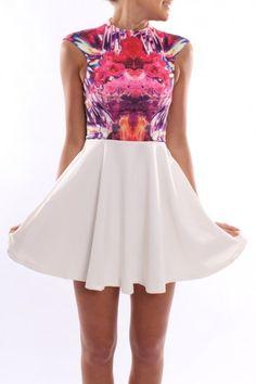Jean Jail / Rise Of Dawn - Crystalised Rose Mini Dress