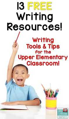 This FREE ebook contains 13 writing activities, lessons, and worksheets designed especially for the upper elementary classroom! Some topics include poetry, word choice, writing strong leads, persuasive writing, narrative writing, and informational writing!