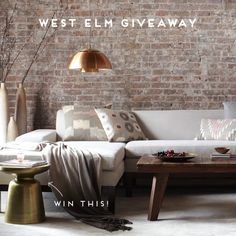 Win It: West Elm Giveaway over at Paper Stitch blog
