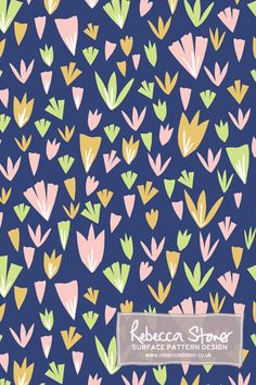 Ditsy Collage Floral by Rebecca Stoner www.rebeccastoner.co.uk