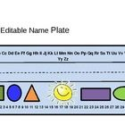 Cute, fun, and easy to use seasonal name plates.  Just type in your student's names, print onto card stock and laminate.Freebies, classroom org...