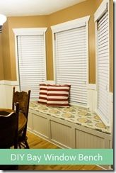 DIY bay window seat