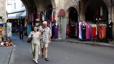 How to dress in Casablanca Morocco | Oct. 7, 2012: Tourists stroll through Casablanca, Morocco's Habous ...