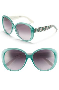 sport the color sunglass trend: MARC BY MARC JACOBS 58mm Oversized Retro Sunglasses available at #Nordstrom @Nordstrom