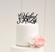 Hey, I found this really awesome Etsy listing at https://www.etsy.com/listing/230425702/hooked-for-life-fishing-wedding-cake