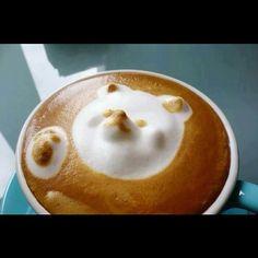 3D bear latte art!