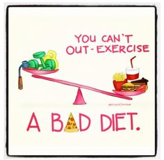yep that excuse that you can workout and eat whatever you want... So not true! It's going to affect you one way or another.